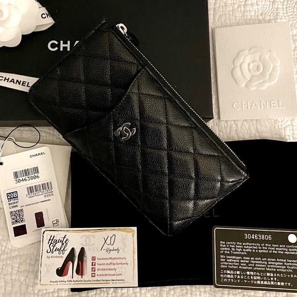 ‼️SOLD‼️Chanel Black Caviar Phone Holder Clutch